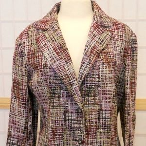 Vintage Tweed Oversized Chanel Blazer Sz 16/XL